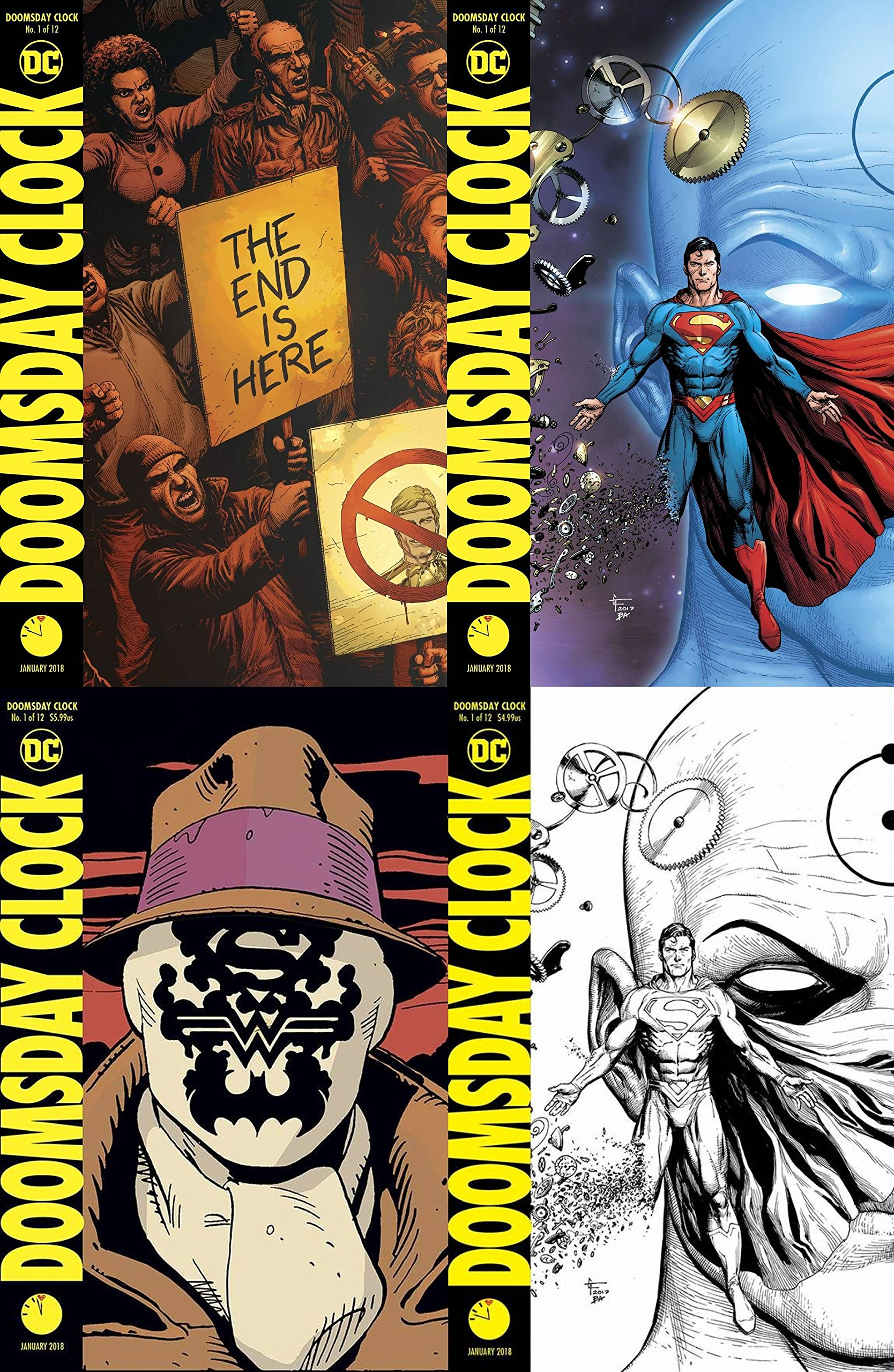 Doomsday Clock 1 Of 12 Cover Set Release Date 11 22 17 Amazon