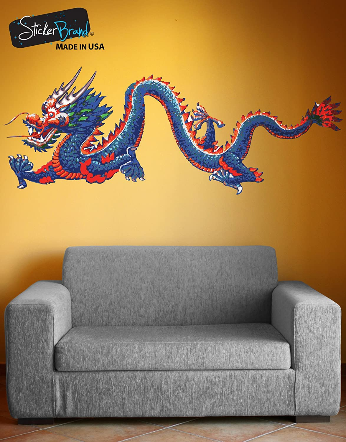 Stickerbrand Chinese Dragon Wall Decal Sticker Large Printed Full ...