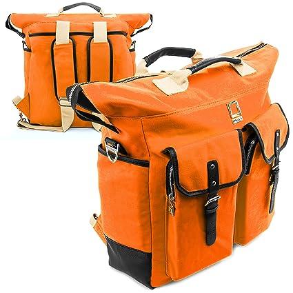 Amazon.com: Lencca Phlox Backpack ORANGE Carry on Laptop Bag fits Apple MacBook Pro 15 & 13 Retina/MacBook Air 11 & 13 inch: Computers & Accessories