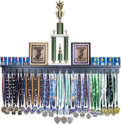 Amazon Com 4ft Award Medal Display Rack And Trophy Shelf Sports Outdoors
