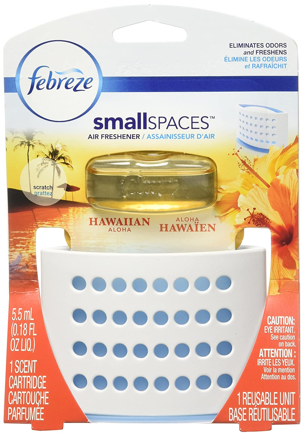 Febreze Smallspaces Hawaiian Aloha Starter Kit Air Freshener (Pack of 8) Febr96489