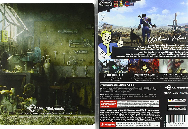 Fallout 4 Uncut Standard Inkl Steelbook Exkl Bei Amazonde