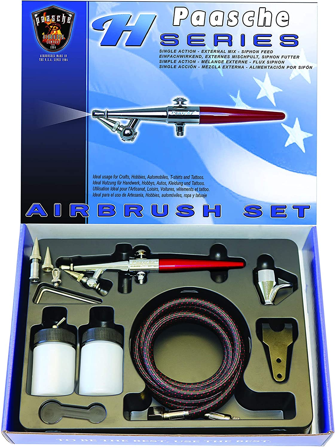 Paasche Airbrush Single Action Airbrush Set