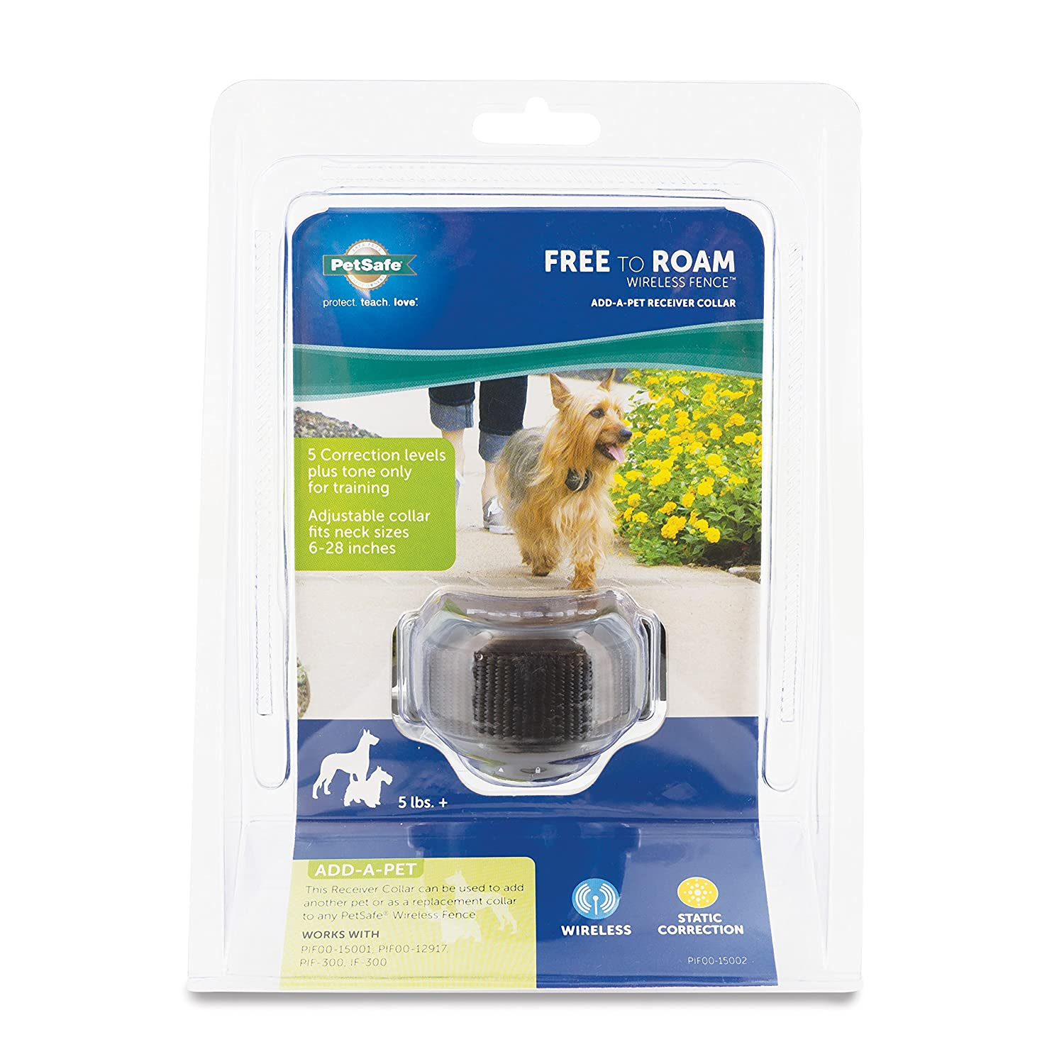petsafe free to roam fence receiver collar for dogs