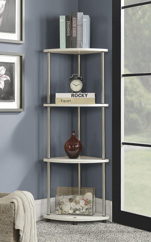 Convenience Concepts 111075W Designs2Go Corner Shelf, White