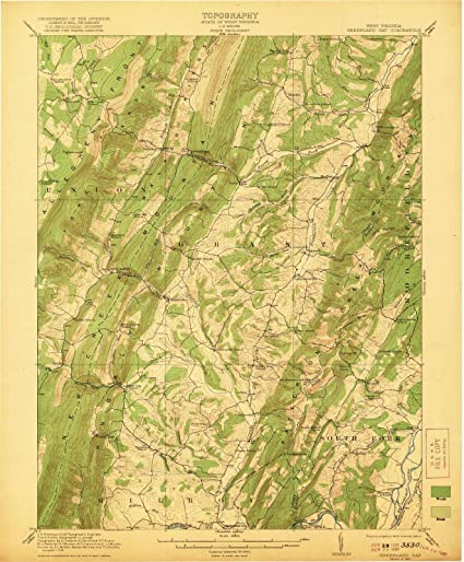 Amazon.com: West Virginia Maps | 1921 Greenland Gap, WV USGS ...