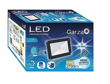 Garza Lighting Outdoor-Foco Proyector LED Exterior IP65 COB, 30W ...