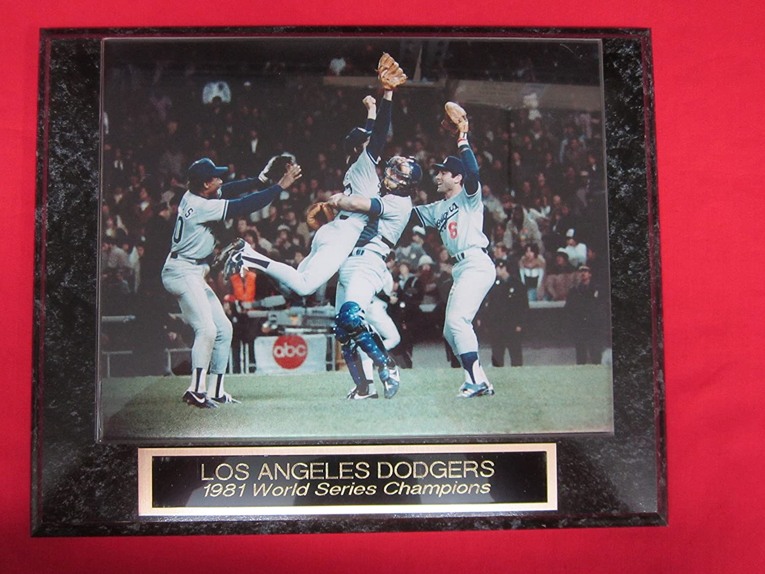 Amazon 1981 Dodgers World Series Champions Collector Plaque W
