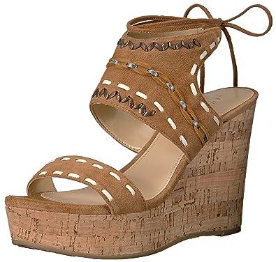 56b7c24dcfb Ivanka Trump Women s Zader Wedge Sandal Cognac 10 Medium US