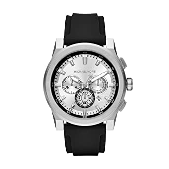 554300805d71 Michael Kors Men s Grayson Stainless Steel Analog-Quartz Watch with  Silicone Strap