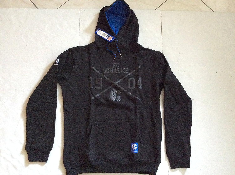 FC Schalke 04 Kapuzen Sweat-Shirt schwarz.