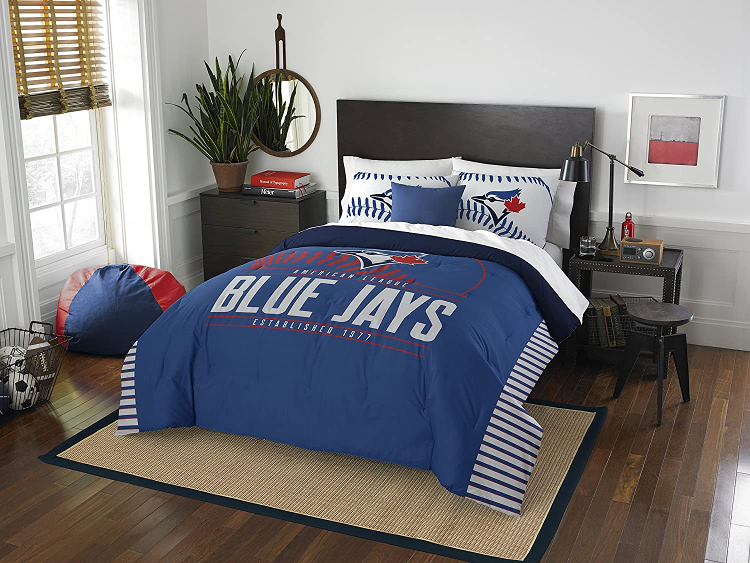 MLB Toronto Blue Jays Grand Slam Two Sham Set, Royal Blue, Full/Queen Size