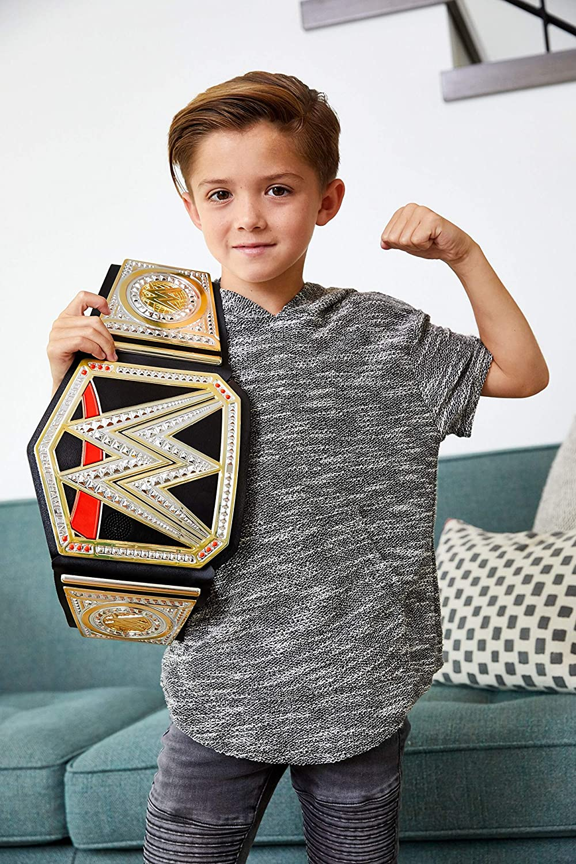 FWH32 jouet pour enfant WWE Live Action Ceinture Championnat de catch Interactive avec sons et phrases de superstars
