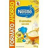 Nestlé Papillas - 8 cereales con Miel, a partir de 6 meses, 900 gr
