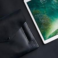Funda De Piel Azul Para Nuevo iPad 9.7, Pro 10.5 & Pro 12.9 Pulgadas, Estuche Con Bolsillo Para Lápiz De Apple, Regalos Con Monograma Personalizados Para Hombre//DRAFTSMAN 5 AZUL OCEANO