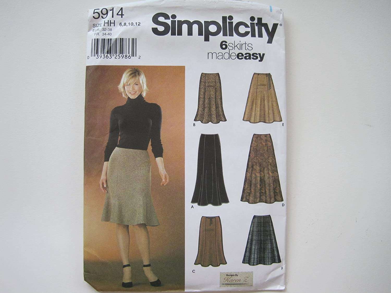 Simplicity Misses Pleated Skirt-6-8-10-12-14