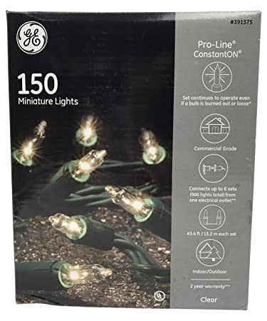 ge 150 count incandescent mini clear christmas string lights
