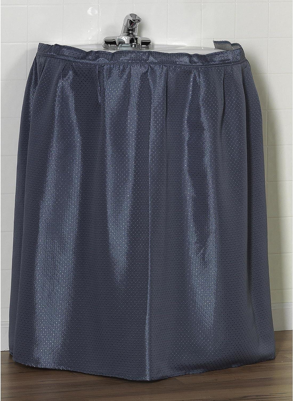 Carnation Home Fashions SSD-L//24 Lauren 56 in x 32 in Dobby Fabric Sink Drape Slate Blue