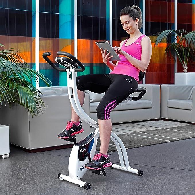 ION fitness AXEL FI022 bicicleta estática plegable con respaldo ...