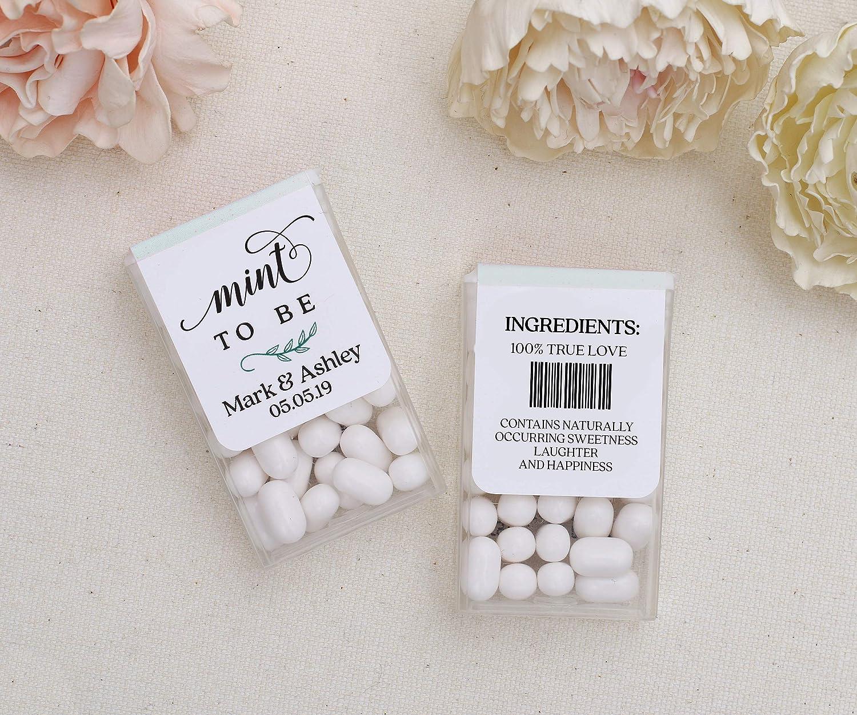 Party Favor Personalized Tic Tac Favor Sticker Labels Wedding Mints