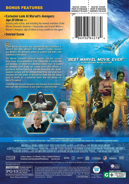 Amazon com: GUARDIANS OF THE GALAXY: Chris Pratt, Zoe