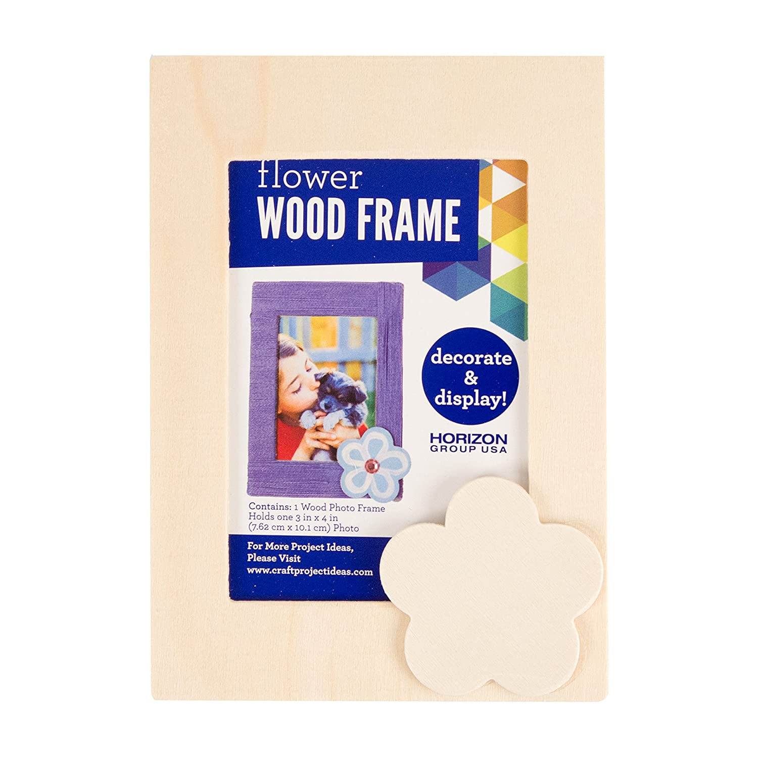 Amazon com: OKSLO Wood Frame with Flower, 4 25IN x 6IN by