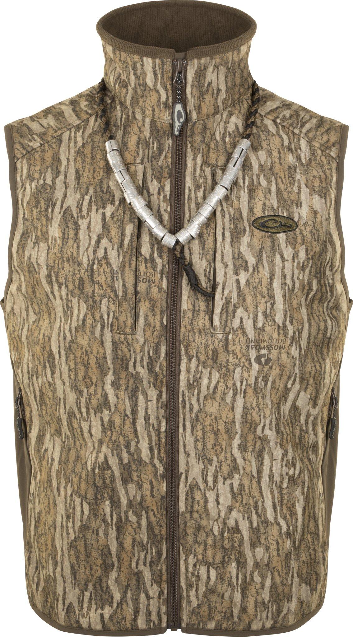 Drake EST Camo Windproof Tech Vest (Bottomland, Small)