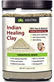 100% Pure Sodium Bentonite Indian Healing Clay, THERAPEUTIC GRADE, Natural & Organic, Revitalize Skin & Hair, Combat Acne, Clay Face Mask, Deep Pore Cleansing