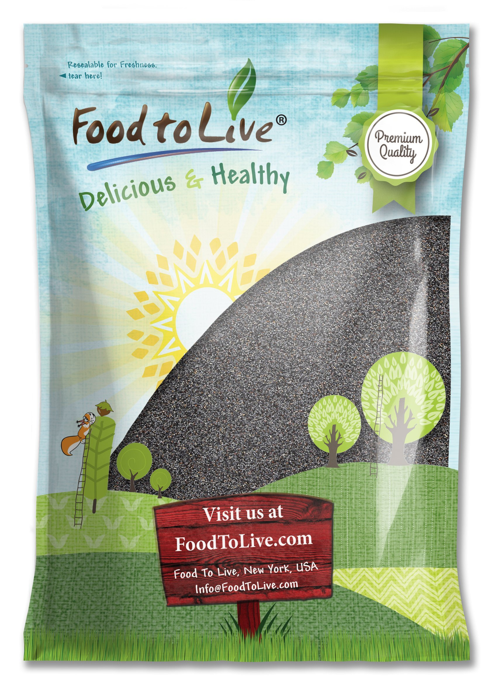 Food to Live Poppy Seeds (England) (Kosher) (8 Pounds)