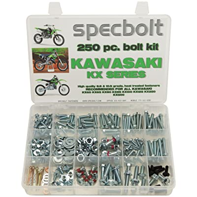250pc Specbolt Kawasaki KX Two Stroke Bolt Kit for Maintenance & Restoration of MX Dirtbike OEM Spec Fastener KX60 KX65 KX80 KX85 KX100 KX125 KX250 KX500 60 65 80 85 100 125 250 500: Home Improvement