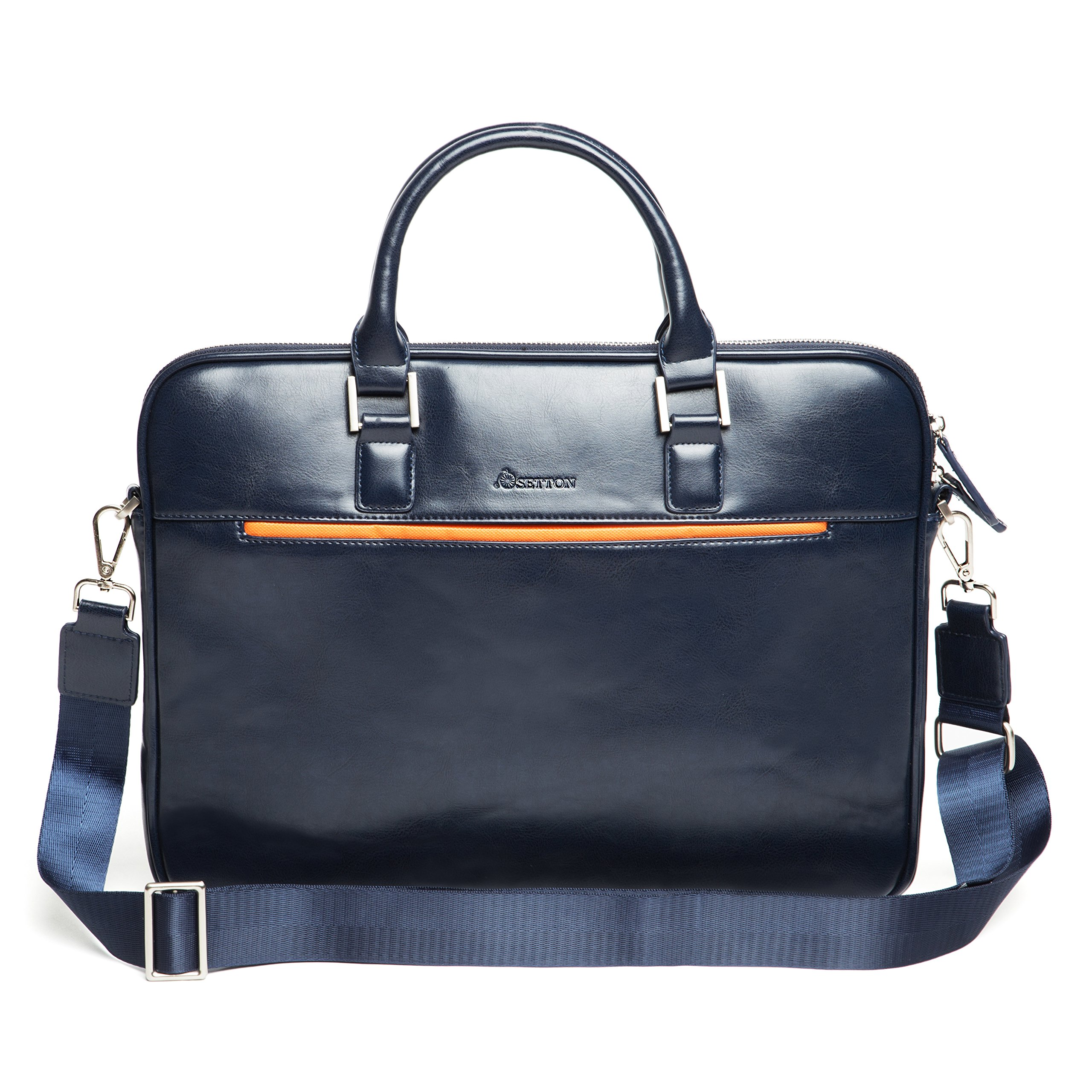 """Laptop Bag Briefcase Business Shoulder-Messenger - 13.3 Inch Slim Case, Travel for up 13"""" Computer - Notebook/ MacBook Air - Pro / iPad Pro 12.9/ Dell xps 13/ Tablet For Men by SettonBrothers - Blue"""