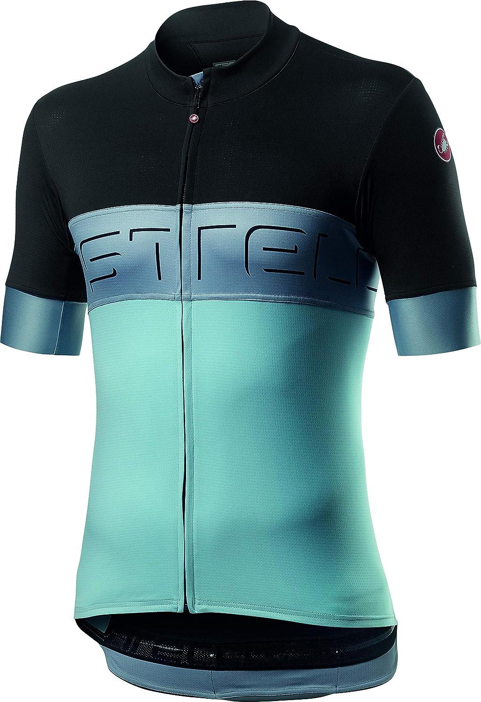 LIGHT BLACK NEW Castelli ENTRATA V Short Sleeve Full Zip Cycling Jersey