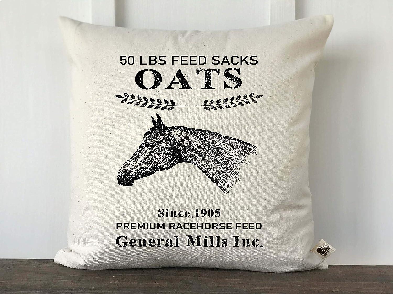 N/ A Farmhouse - Funda de almohada de saco, almohada de avena de caballo, almohada decorativa, almohada de sofá personalizada, decoración de granja