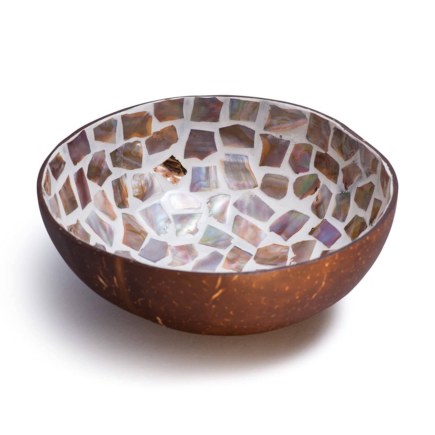 Cocobowl Mother of Pearl Decorative Bowl white Kaloogo