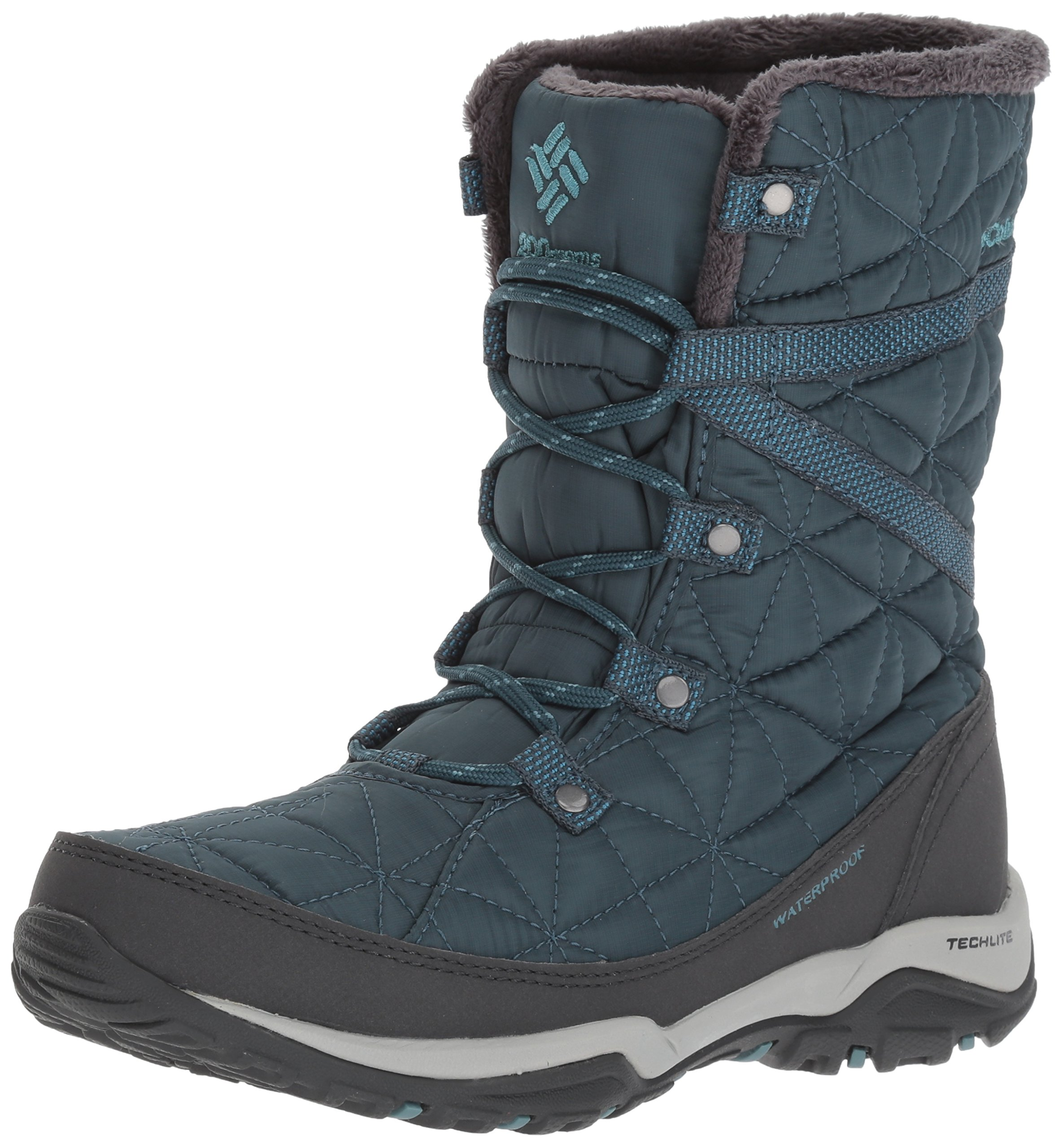 Columbia Women's Loveland Mid Omni-Heat Snow Boot, Ever Blue, Storm, 9 B US