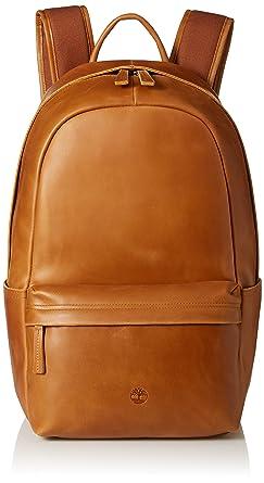 Amazon.com: Timberland Men's Tuckerman Leather Backpack, Cognac ...