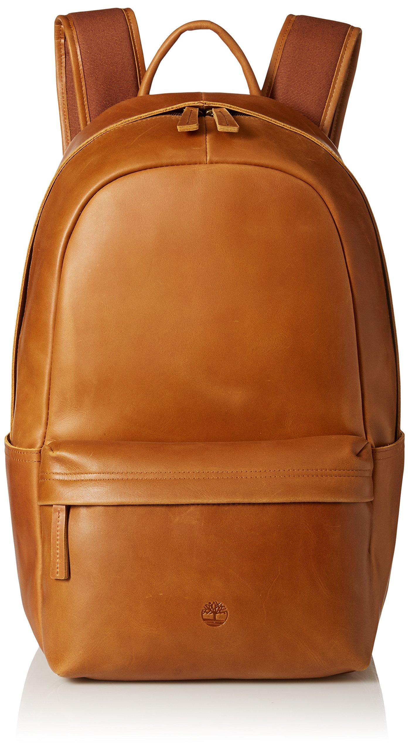Timberland Men's Tuckerman Leather Backpack, Cognac