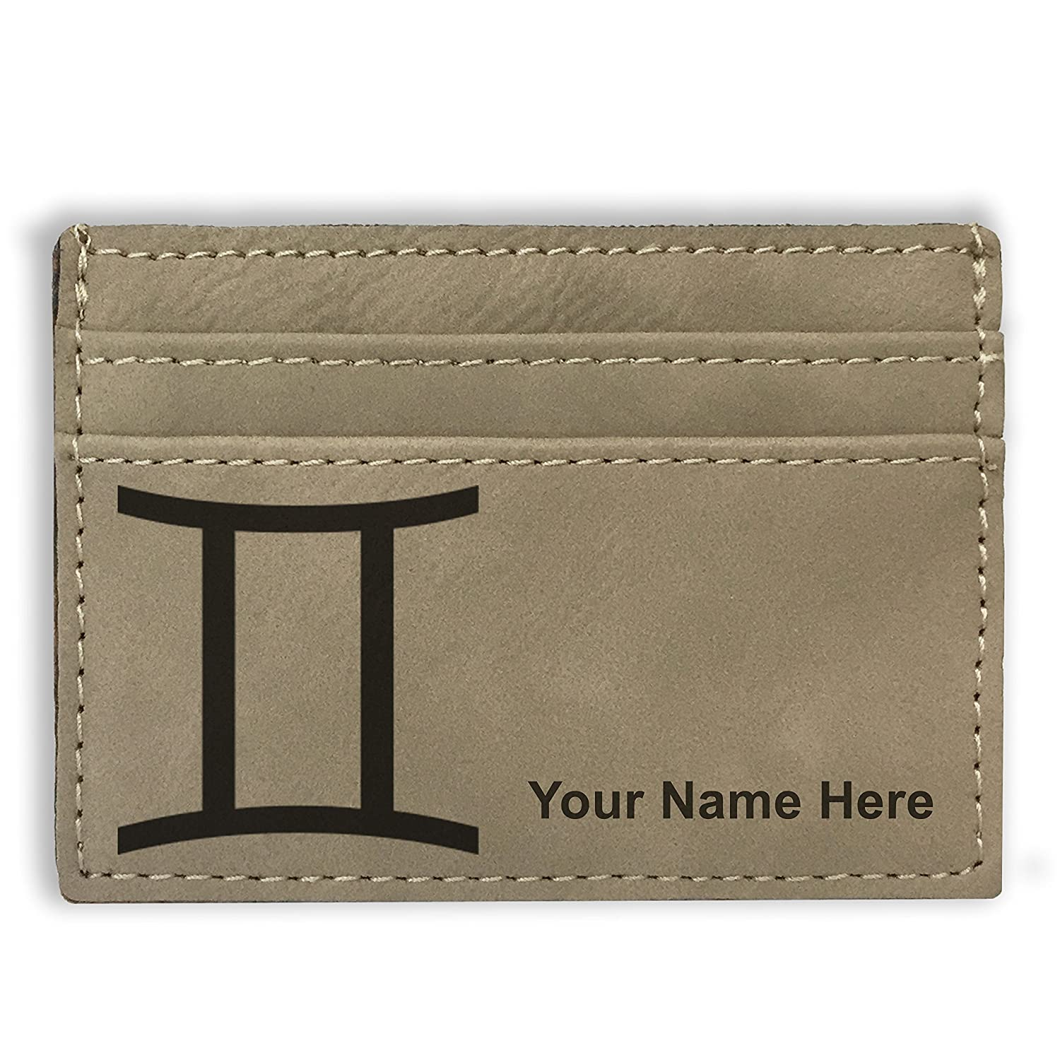 Personalized Engraving Included Zodiac Sign Gemini Money Clip Wallet