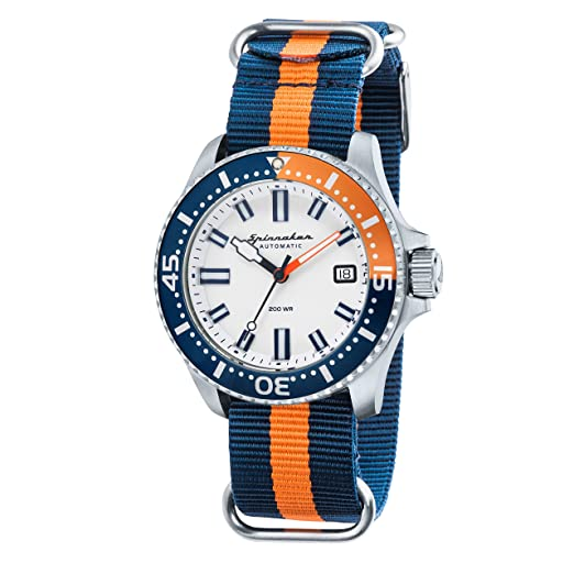 af746e8a9e5 Spinnaker Mens Analogue Classic Automatic Watch with Leather Strap SP-5039-02   Amazon.co.uk  Watches