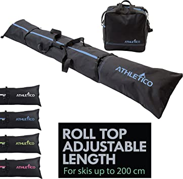 special for shoe quality design outlet store Athletico Two-Piece Ski and Boot Bag Combo | Store & Transport Skis Up to  200 cm and Boots Up to Size 13 | Includes 1 Ski Bag & 1 Ski Boot Bag (Black)
