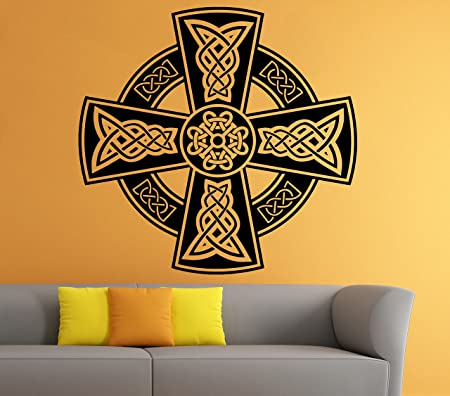 Celtic Cross Wall Decal Celtic Knot Decals Wall Vinyl Sticker ...