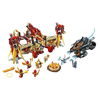 LEGO Chima 70146 Flying Phoenix Fire Temple Building Toy (Discontinued by manufacturer)