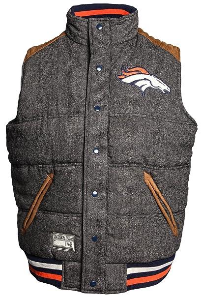 best service c5455 1a370 Amazon.com : Denver Broncos Legacy Button-Up Reversible Vest ...