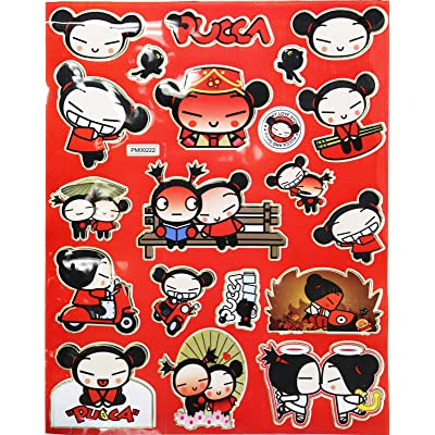 Pucca and Garu a Funny Love Story Sticker Set (20 Stickers): Toys & Games