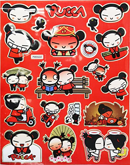 Amazon com: Pucca and Garu a Funny Love Story Sticker Set (20