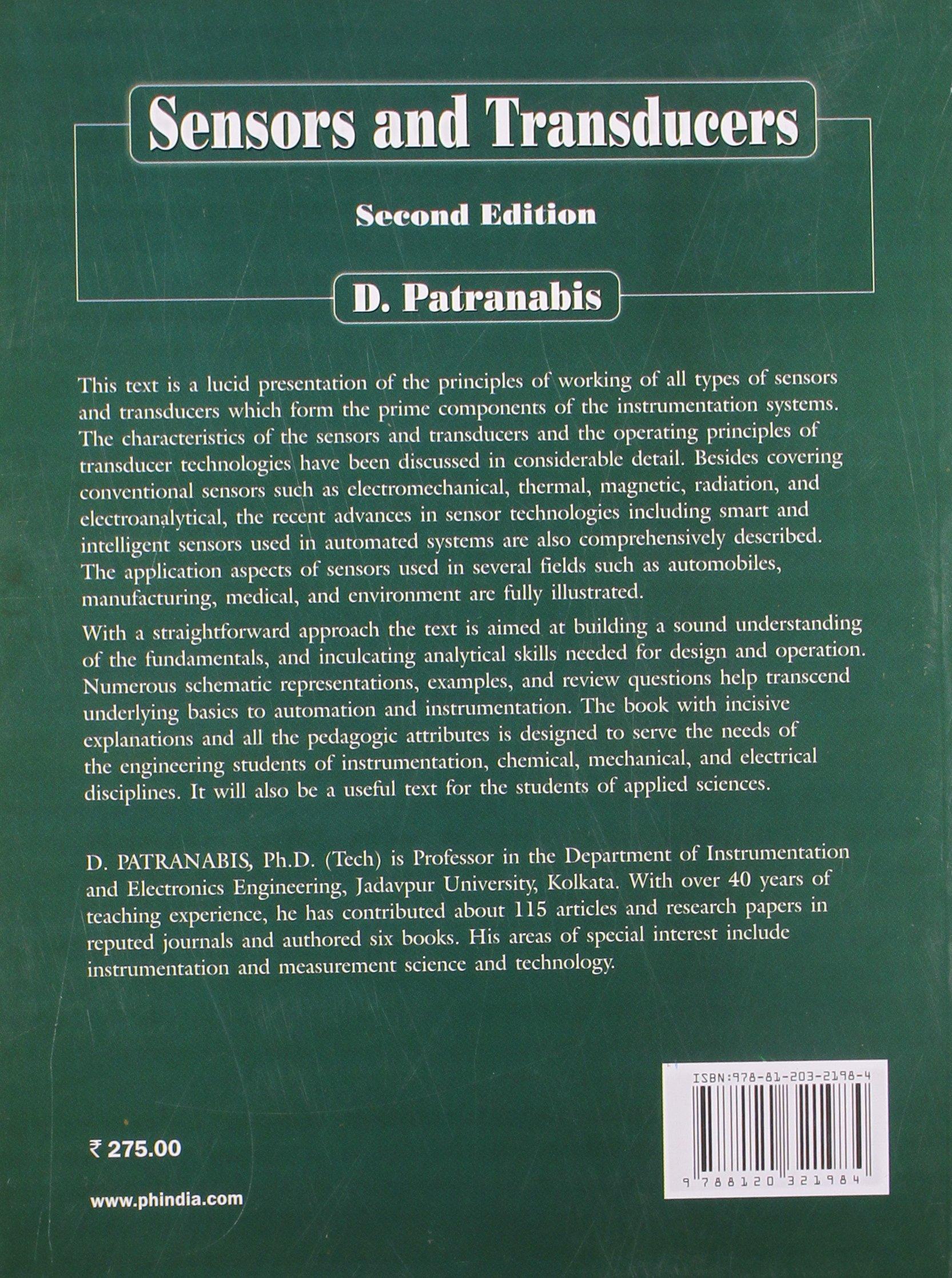 Principles Of Industrial Instrumentation Third Edition D Patranabis Pdf