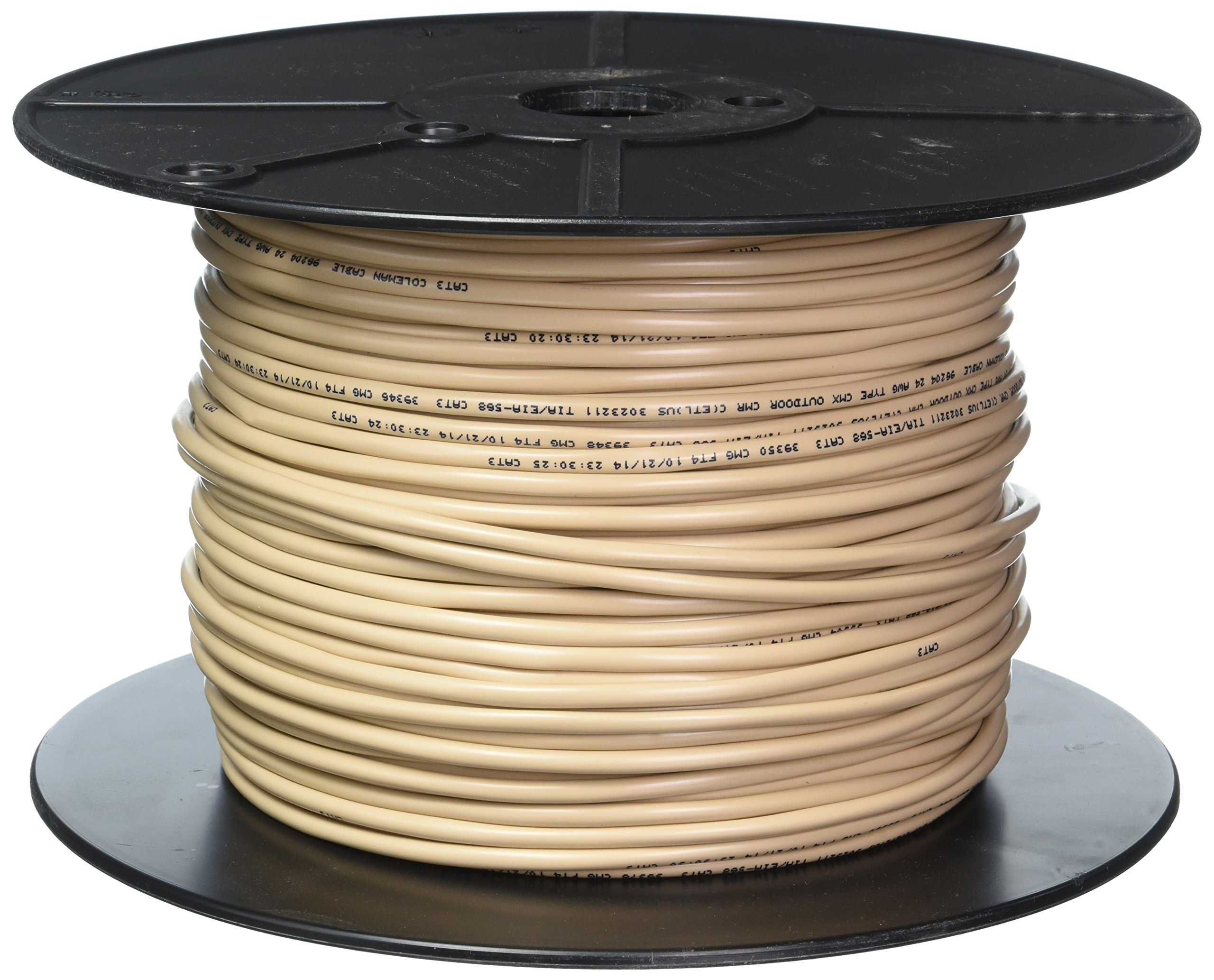 COLEMAN CABLE INC 96204-05-33 24/4 Pair Round Phone Wire, 500-Feet, Beige by Coleman (Image #1)