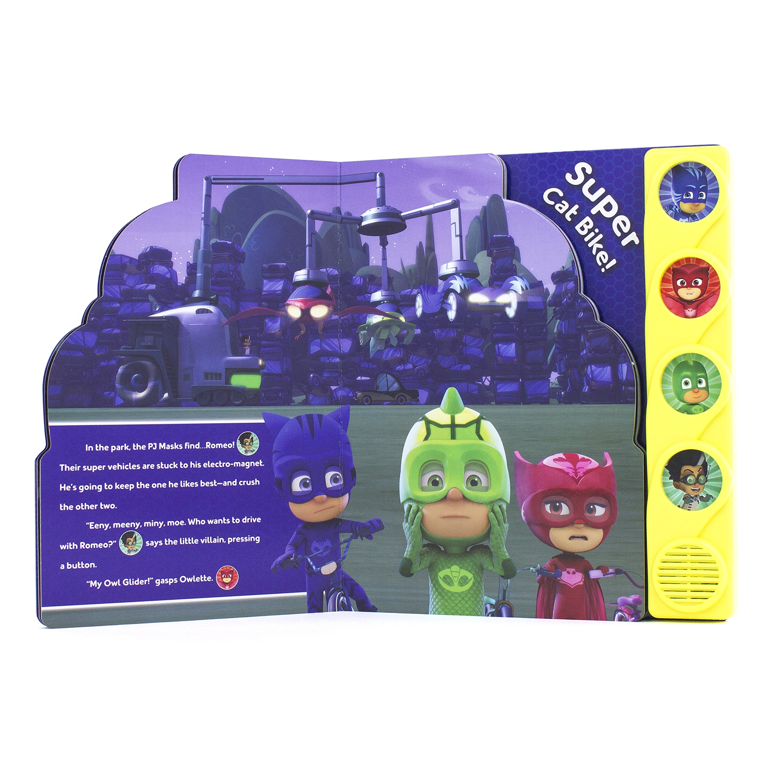 PJ Masks Super Cat Bike! (PI Kids) Little Shaped Sound Board Book 9781503724136: Adapted by Erin Rose Wage, Editors of Phoenix International: 9781503724136: ...