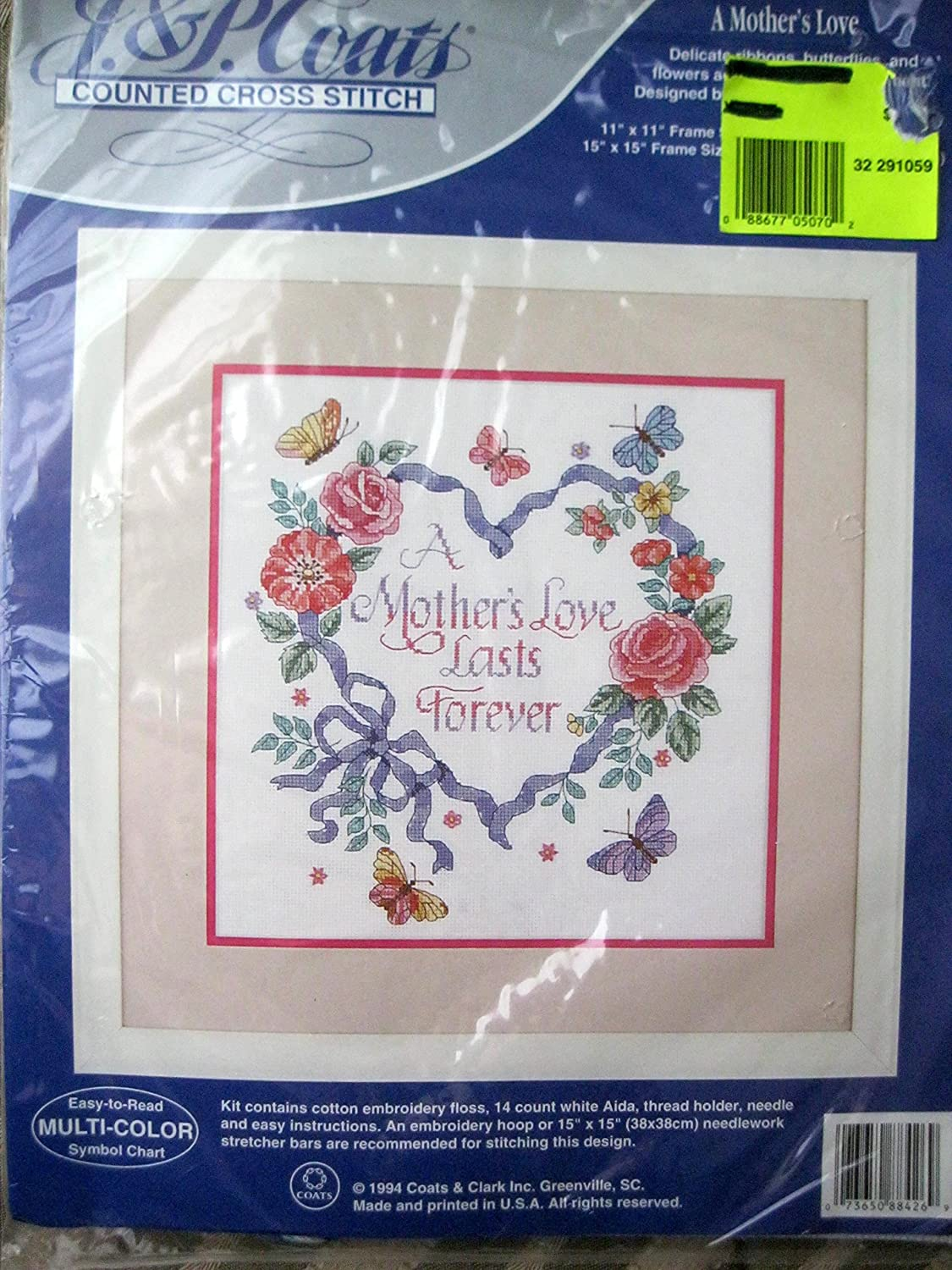 Amazon a mothers love cross stitch kit geenschuldenfo Image collections