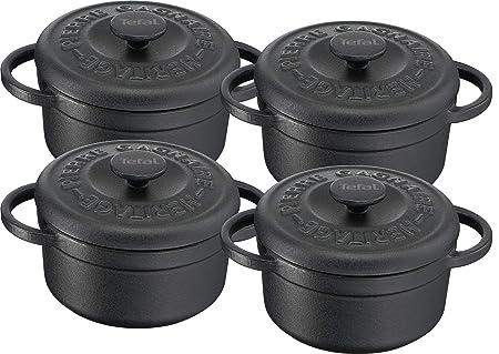 Tefal Heritage - Set minicacerolas de 10 cm, hierro fundido, 0,3 ...